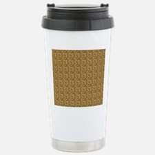 Spotted Leopard Woven B Stainless Steel Travel Mug