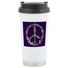 Butterfly Peace Sign Bl Travel Mug