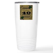Vintage 40th Birthday ( Travel Coffee Mug