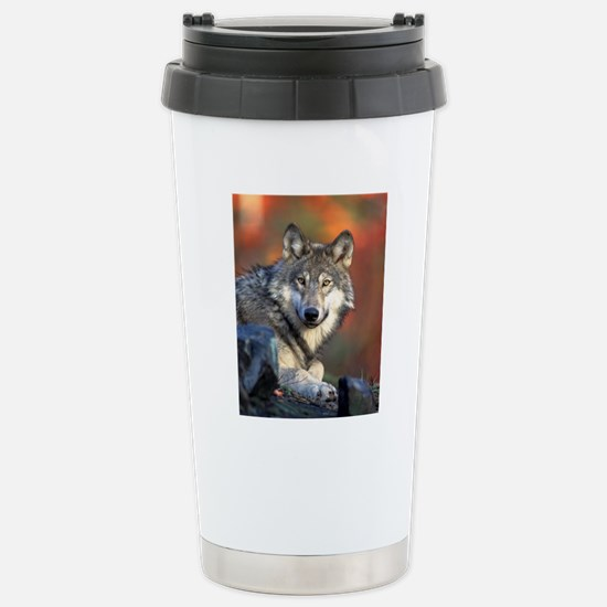Wolf Wolves Lovers Stainless Steel Travel Mug