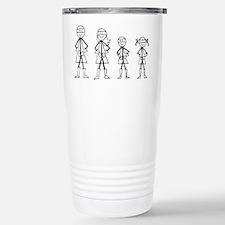 Super Family 1 Boy 1 Girl Travel Mug