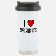 Unique I heart spreadsheets Travel Mug