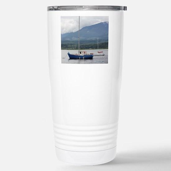Anchored sailboat Stainless Steel Travel Mug