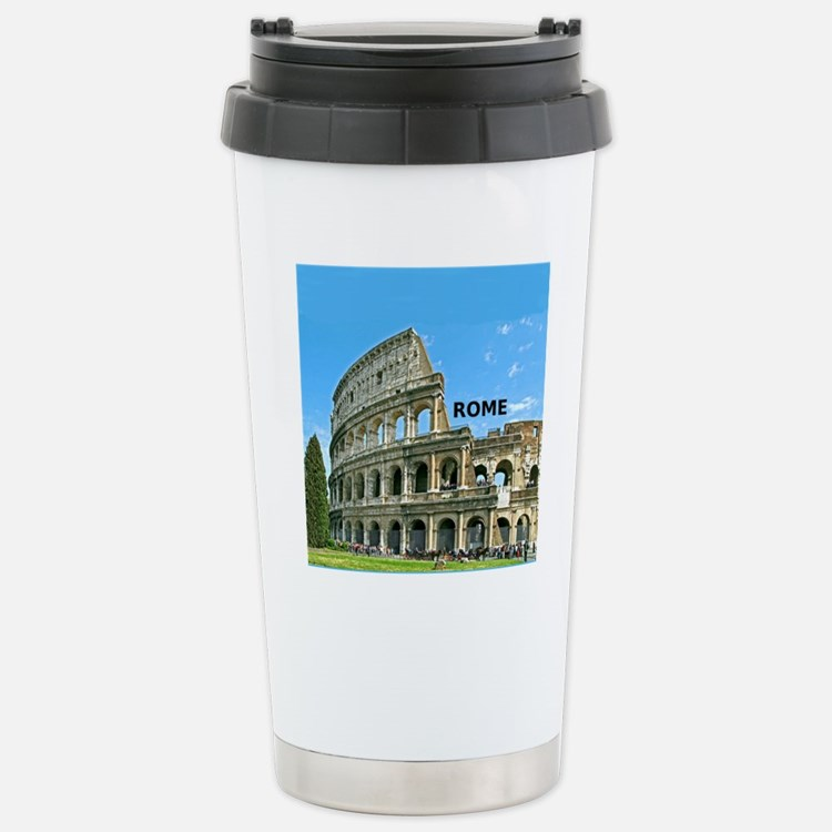 Rome_12x12_v2_Colosseum Stainless Steel Travel Mug