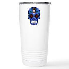 CANDY SKULL-Blue Hawiian Shirt Travel Mug