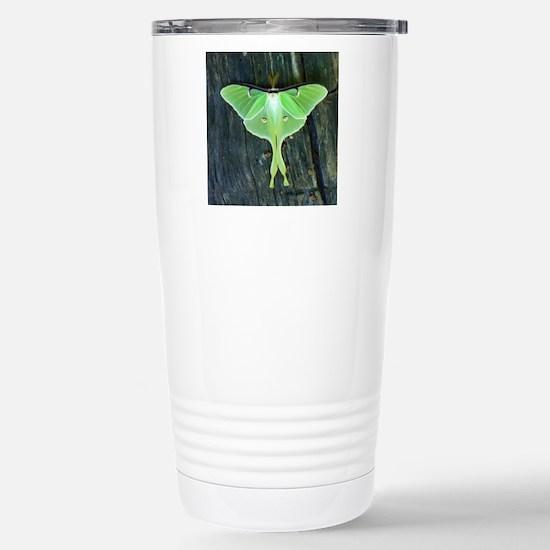 Luna Moth Stainless Steel Travel Mug