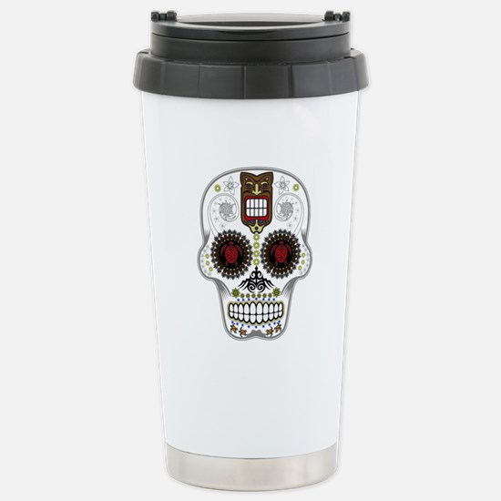 CANDY SKULL-Hawiian Shirt-ghost outline Stainless