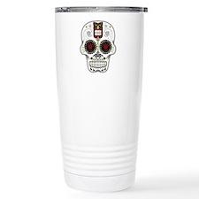 CANDY SKULL-Hawiian Shirt-ghost outline Travel Mug
