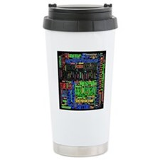 team eliza square words Thermos Mug