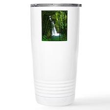 Waterfall in Azores Travel Coffee Mug