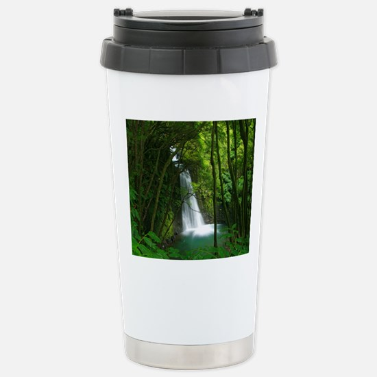 Waterfall in Azores Stainless Steel Travel Mug