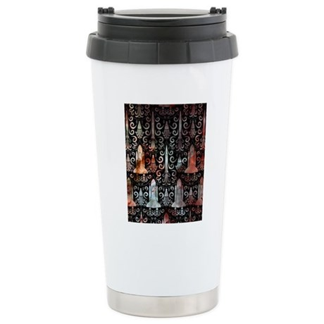 Rocket Science Damask Stainless Steel Travel Mug