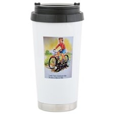 Vintage Bike Boy Travel Mug