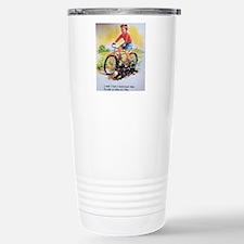 Vintage Bike Boy Travel Mug