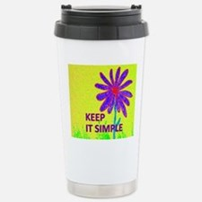 Wildflower Keep It Simp Stainless Steel Travel Mug
