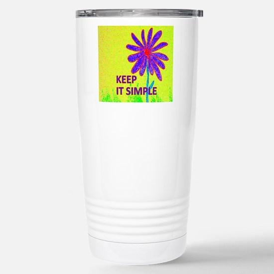 Wildflower Keep It Simp Stainless Steel Travel Mug