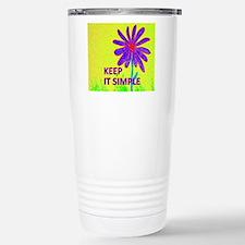 Wildflower Keep It Simp Travel Mug