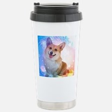 Smiling Corgi with Wave Travel Mug