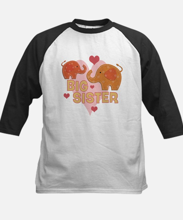 Big Sister - Baby elephants Baseball Jersey