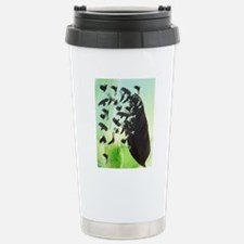 Crow Feather Green Stainless Steel Travel Mug