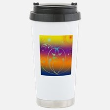 Butterflies and Cosmos Stainless Steel Travel Mug