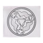 3 Hares Throw Blanket
