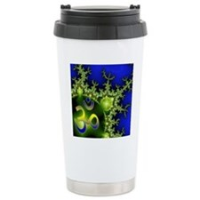 Aum Om Green Blue Yoga  Travel Coffee Mug