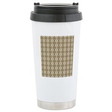 Dark Gold Damask Travel Mug