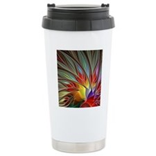 Fractal Bird of Paradis Travel Mug