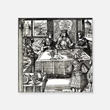 "Maximilian of Burgundy and  Square Sticker 3"" x 3"""