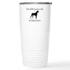 90 birthday dog years boxer Travel Mug