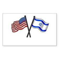 American Israeli Flags Decal