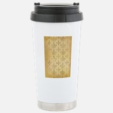 gold tone distressed da Travel Mug