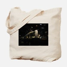 The Singapore Merlion At Night Tote Bag