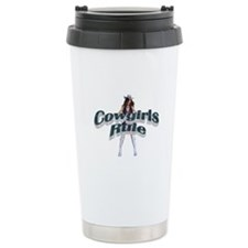 Cowgirls Rule Travel Mug