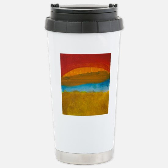 River Sunset Stainless Steel Travel Mug