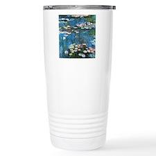 Waterlilies by Claude M Travel Mug