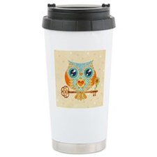 Owls Summer Love Letter Travel Mug
