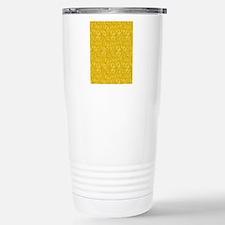 Yellow Swirling Paisley Travel Mug