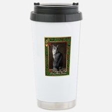 Egyptian Mau Cat Christ Stainless Steel Travel Mug