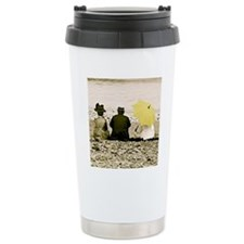 Yellow Umbrella Travel Coffee Mug