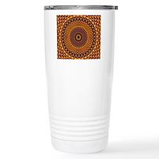 Golden Rainbow Mandala  Travel Mug