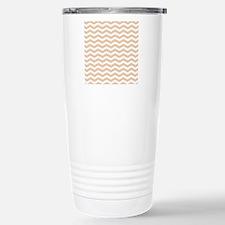 Orange Chevron pattern Travel Mug