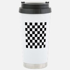 black and white checker Stainless Steel Travel Mug