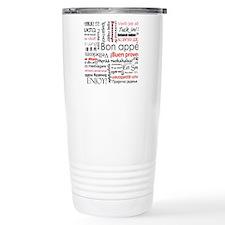 Red Bon appetit in diff Travel Mug