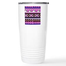 Pink Peruvian tribal pa Travel Mug