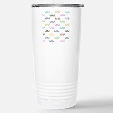 Girly mustache pattern Stainless Steel Travel Mug