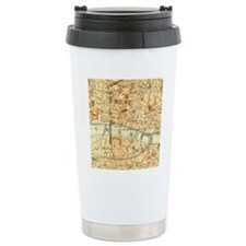 Vintage map of London Travel Mug