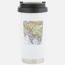 Vintage map of Asia Travel Mug