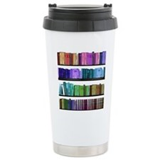 Rainbow bookshelf Travel Mug